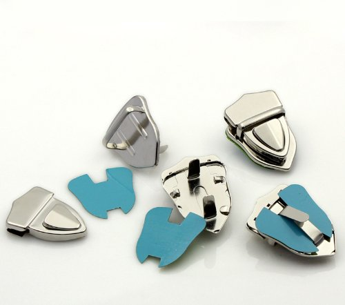 Housweety-10 sets Fermoirs Clasps pr Sac /à main Couleur moins brillant 4.1x3cm B22561-design personnalise-charme pour la mode