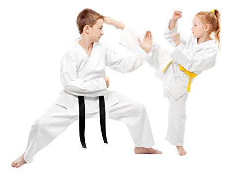 Tokyodo White Martial Art Karate Uniform with White Belt, Weight 8 Oz, Size 3 / (Martial Arts Uniform Belt)