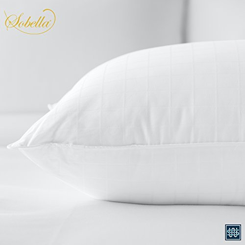 Sobella: Best Side Sleeper Pillow - Hotel & Resort Quality Pillows - Polyester Fill with 100% Premium Cotton - Hypoallergenic Pillow that Maintains Shape (King Size Pillow) by Sobel Westex