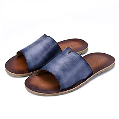 35cbef799 Amazon.com | Men'shoes Casual Genuine Leather Men Sandals Slippers Summer  Fashion Men Outdoor Casual Beach Shoes Flip Flops Comfortable | Sandals