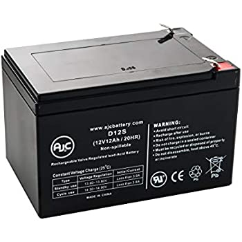 Vision 6FM12, 6 FM 12 12V 12Ah UPS Battery - This is an AJC Brand Replacement