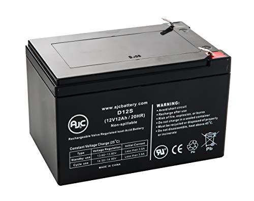 X-Treme XB-502 Electric Bike 12V 12Ah Scooter Battery - This is an AJC Brand Replacement
