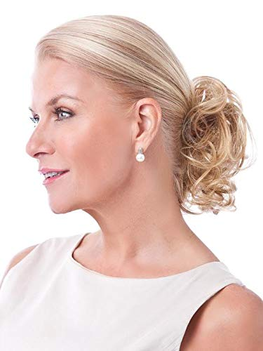 Petite Pouf by Toni Brattin Wavy Claw Clip Womens Synthetic Hairpiece Instant Volume - Light Blonde