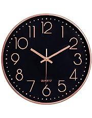 Foxtop 30 cm Horloge Murale Silencieuse à Quartz pour la Salle de Classe de Cuisine de Bureau à Domicile