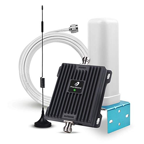 (Cell Phone Signal Booster for Home and Office Use - Dual Band 850/1900Mhz GSM 3G Repeater Antennas - Boost Voice and Data)