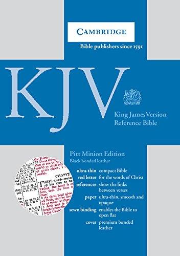 Download KJV Pitt Minion Reference Edition, R182 Black Bonded Leather PDF ePub fb2 book