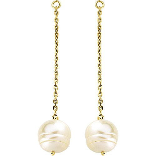 14kt Yellow 9-11mm Freshwater Cultured Pearl Earring Jackets from Stuller