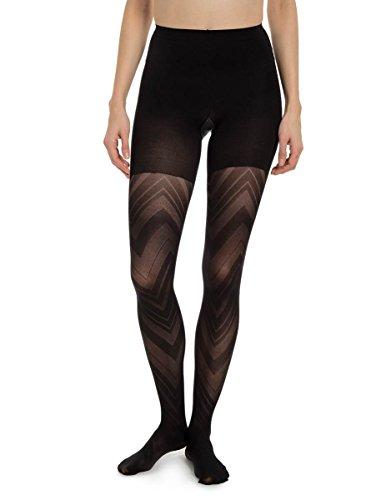 - SPANX Patterned Tight-End Tights Vortex Stripe Black, Size C