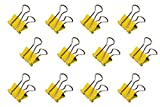 Maul Original Mauly Klemmer 19 mm, foldback clamp, clamping width 7 mm, 2141915, box 12 pieces, yellow