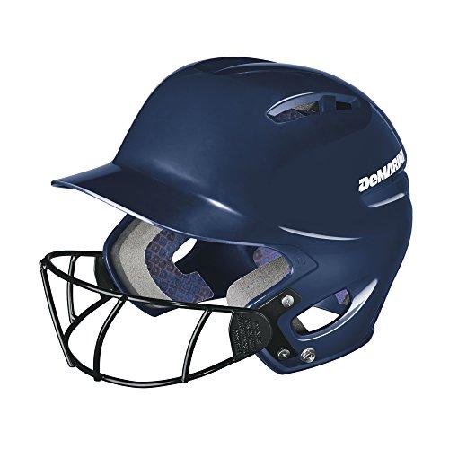 DeMarini Paradox Protege Pro Batting Helmet with Mask Small/Medium (6 3/8-7 1/8), Navy, Small/Medium (6 3/8-7 1/8)
