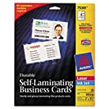 Avery Self-Laminating Cards, White, 2 1/4 x 3 1/2, 4/Sheet, 20/Pack