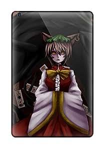 Ipad Case - Tpu Case Protective For Ipad Mini/mini 2- Video Games Touhou Nekomimi Animal Ears Shortcat Ears Chen Hats Ofuda Cats Drawn Touhou Chenart Hd