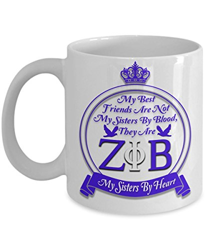 My Sisters By Heart Zeta Phi Beta Coffee Mug ()