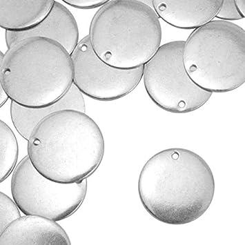 24, Pewter ImpressArt Artisan River Stone Metal Stamping Blanks