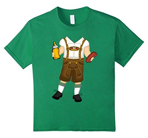 Bavarian Costume Baby (Kids Funny Bavarian Baby Costume T-Shirt Oktoberfest Drinking Tee 4 Kelly Green)