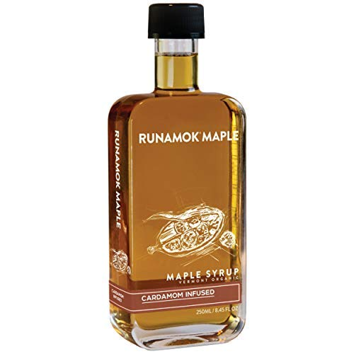 Runamok Maple, Cardamom Infused Organic Vermont Maple Syrup, 8.45 Ounce, 250mL
