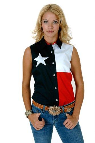Stetson 03-052-0185-0201 NA LADIES Americana SLEEVELESS SHIRT NAVY - Sleeveless Ladies Shirt Roper