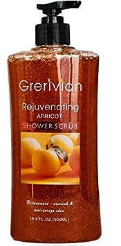 Grerivian SHOWER SCRUB Exfoliating Shower Gel – BODY POLISH – Intense Lightening body cleanser – Revitalizing, Rejuvenating Body wash