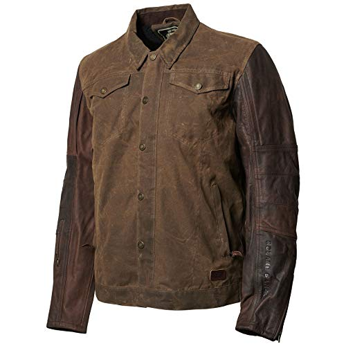 Roland Sands Design Johnny Waxed Cotton Jacket Ranger/Mahogany Medium (More Color and Size Options)