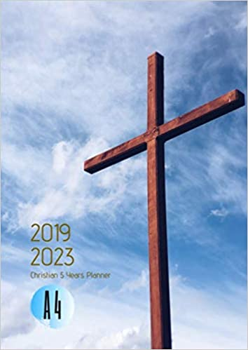 2019-2023 Five Year Planner A4 Christian Goals Monthly ...