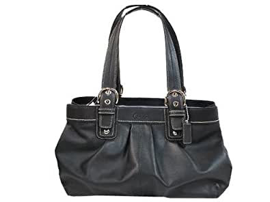 Coach Black Soho Pleated Leather Business Tote - F13733