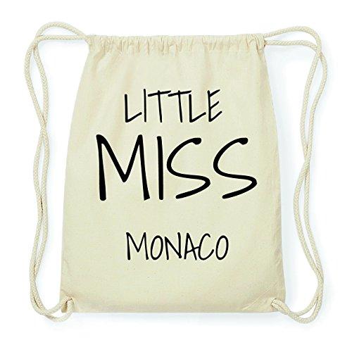 JOllify MONACO Hipster Turnbeutel Tasche Rucksack aus Baumwolle - Farbe: natur Design: Little Miss 3987Fj7oQK