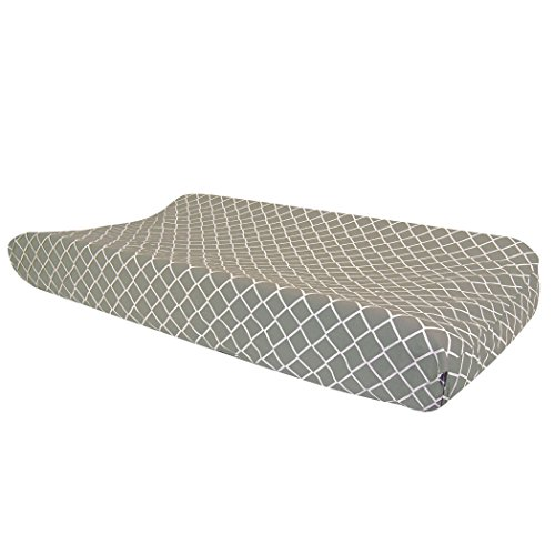 Price comparison product image Trend Lab Paloma Gray Diamond Changing Pad Cover