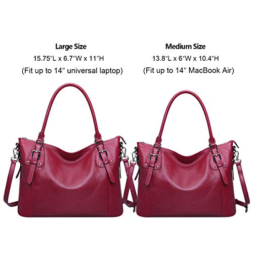 S ZONE Cross Large Women's Vintage Shoulder Body Leather Rose Bag Tote Handbag Genuine Bag Red qqYCxrwvdn