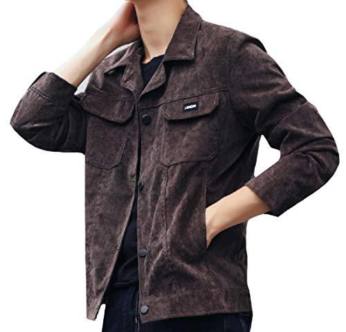 Regular Collare Di Ribaltabile Outwear Rkbaoye Lavoro Cura Mens Carico Fit 3 Facile aIwYgI50q