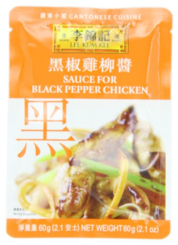 Lee Kum Kee Sauce For Black Pepper Chicken, 2.1-Ounce Pouches (Pack of 12) Beef Pepper Stir Fry