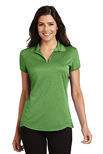 Port Authority Ladies Trace Heather Polo-Vine Green Heather-Medium