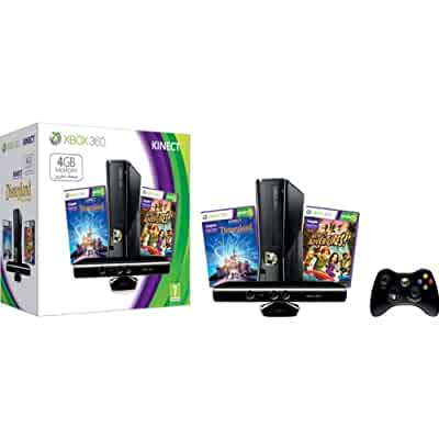 Xbox 360 4gb kinect console bundle with kinect disneyland adventures and kinect - Xbox 360 console kinect bundle ...