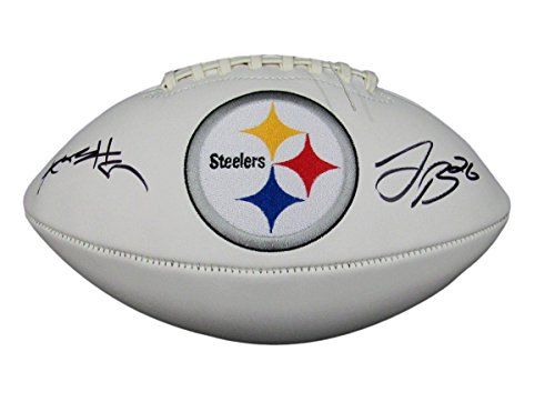 Antonio Brown Le'veon Bell Steelers Autographed/Signed Logo Football JSA 130683