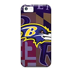 AlissaDubois Iphone 5c Bumper Hard Cell-phone Case Allow Personal Design High-definition Baltimore Ravens Image [ZmV20180jwYY]