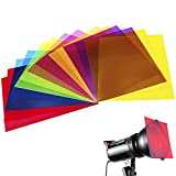 14 Pack Colored Overlays Transparency Color Film Plastic Sheets Correction Gel Light Filter Sheet