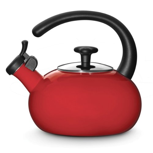 Rachael Ray Teakettles 1-1/2-Quart Whistling, Red (Rachel Ray Teapot compare prices)