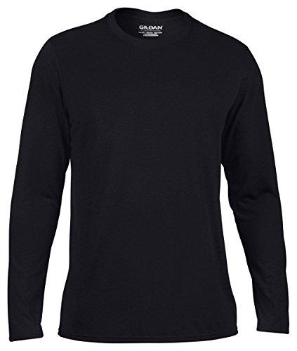 Gildan Ultra Cotton Men's Long Sleeve T-Shirt, Black, Small (Gildan T-shirt Pocket Chest)