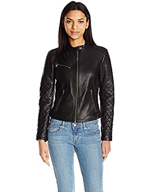 Women's Smooth Lamb Leather Cut Racer
