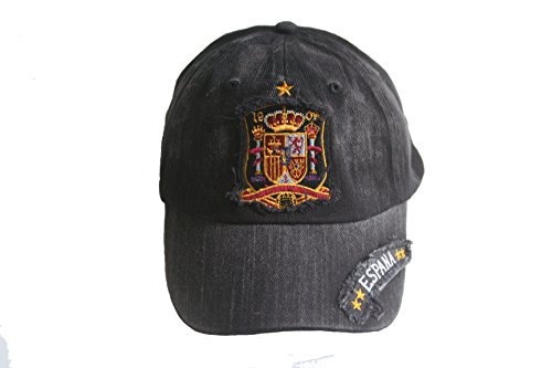 Espana Spain FIFA Soccer World Cup Embossed Hat Cap .. Acid Washed .. New