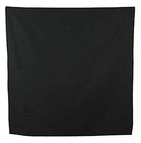 (Historical Emporium Men's Cotton Western Neckerchief Solid Black)