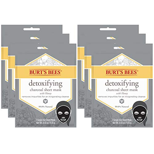 Burt's Bees Detoxifying Charcoal Sheet Mask, 6 Count