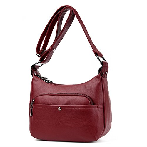 Leather Blue Hobos Shoulder Soft Woman Bags Handbags Sky Handbags Fashion CPxXqzwAx