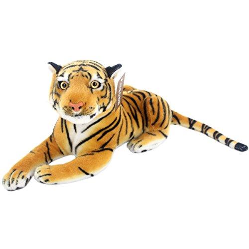 Jesonn® Realistic Stuffed Animals Soft Plush Toy Tiger Beige for Kids Birthday Gifts,13.5
