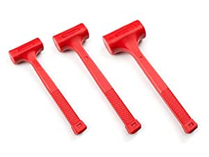 TEKTON 30709 Dead Blow Hammer Set with 16, 32 and 48-Ounce
