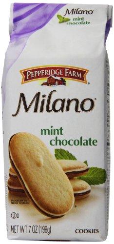 Pepperidge Farm Mint Milano Cookies, 7 Ounce (Pack of 12) (Pepperidge Farm Mint Cookies)