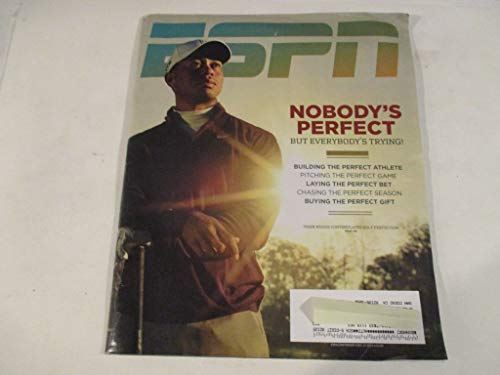 DECEMBER 13, 2010 ESPN MAGAZINE FEATURING TIGER WOODS *NOBODY'S PERFECT BUT EVERYBODY'S TRYING!* *TIGER WOODS CONTEMPLATES GOLF PERFECTION* MAGAZINE