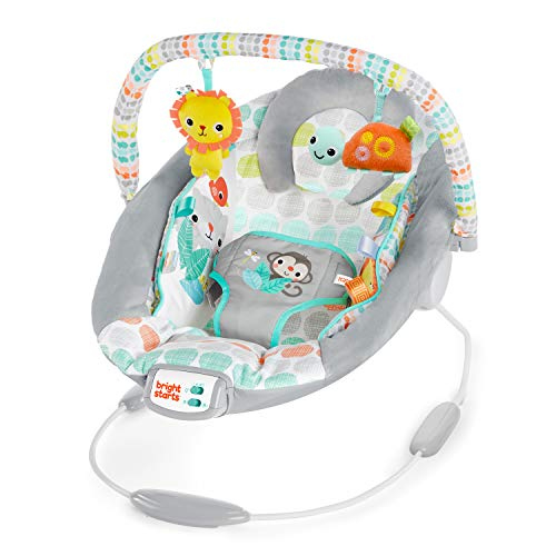 Bright Starts Whimsical Wild Cradling Bouncer Seat with Soothing Vibration