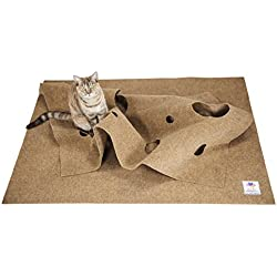The Ripple Rug - Cat Activity Play Mat - Made in USA - Fun Interactive Play - Training - Scratching - Thermal Base - Multi Use Habitat Bed Mat
