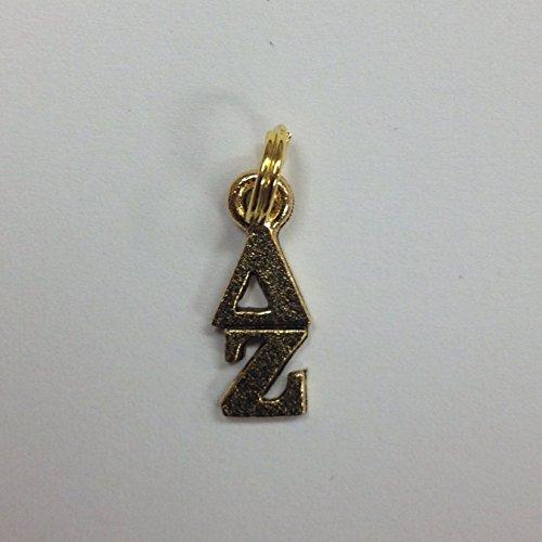Delta Zeta Lavaliere in 24K Gold Plate, Greek Sorority Charm
