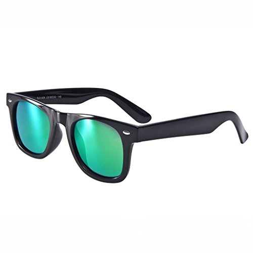 BELLBESSON - Classic Retro TR90 Frame Polarized Wayfarer Sunglasses UV400 (Polarized Classic Sunglasses Wayfarer 50mm)